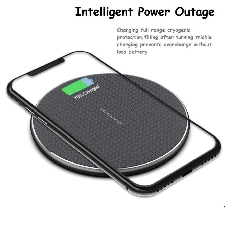 Беспроводное зарядное устройство QI для iPhone 11 Xs Max X XR 8 Plus, быстрая зарядка для Samsung Note 9 Note 8 S10, индукционное зарядное устройство