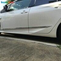 Für Toyota Prius 2016 2017 ABS Chrom Auto Seite Tür Trim Streifen Form Stream Panel Stoßstange Hauben Schutz Styling Zubehör