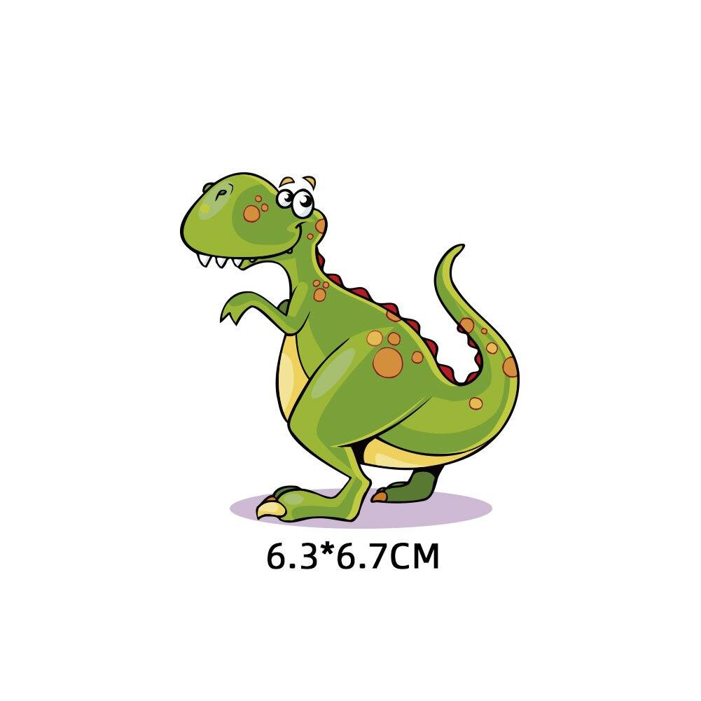 Мультяшный пони, единорог, динозавр, железная нашивка, теплопередача, одежда в полоску, футболка для мальчиков и девочек, сделай сам, волшебная наклейка на заказ - Цвет: ZT1149