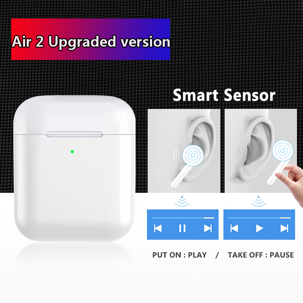 2019 New Air 2 Bluetooth Earphone 1536d Chip In-ear Windows WirelessEarphone For IPhone Headset 2 Generation I30 I60 I100 TWS