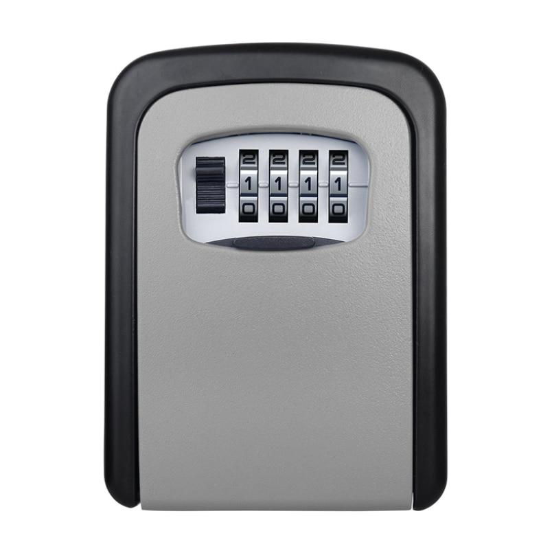 Safe-Box Lock-Key Wall-Mount-Combination Password-Lock Keybox Hidden-Keys Office Security