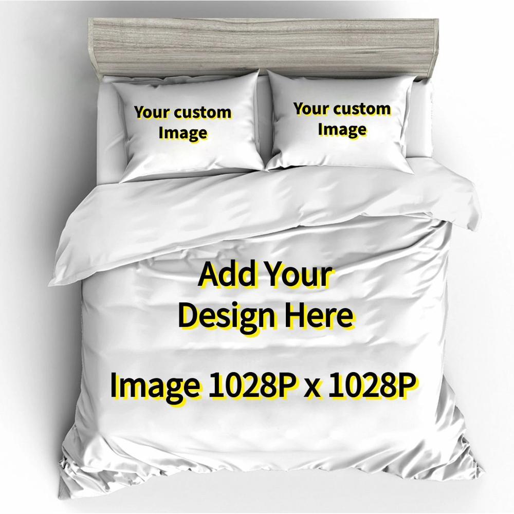 Edredon Custom Brand LOGO Bedding Sets Duvet Cover Home Textile Single King Size Bedding Set Bed Sheets Pillowcases Bed Linen