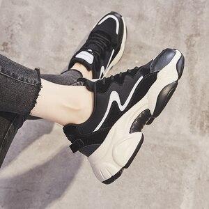 Image 4 - 2020 תוספות מכירה לוהטת אביב אופנה נשים נעליים יומיומיות עור פלטפורמת נעלי נשים סניקרס גבירותיי לבן מאמני Chaussure Femme