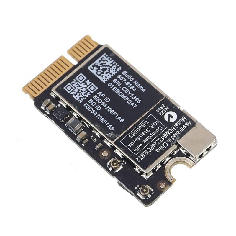 BCM943224PCIEBT2 2.4/5G WiFi BT 4.0 Mini PCIe Network Card For Mac OS Macbook