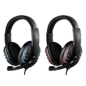 Image 2 - 3,5mm cascos con cable para jugar por oído juego de auriculares de cancelación de ruido auriculares con Control de volumen del micrófono para PC teléfono inteligente
