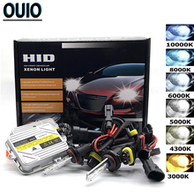 55W HID Xenon Kit Fast Start Car Headlight Bulbs H1 H3 H4 Hi/Lo H11 9005 9006 Fog Lights 3000 4300 6000 10000K 12V Auto Headlamp