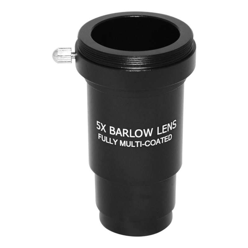 Super sell Barlow Lens 5X 1.25 Fully Metal Multi Coated Optical Glass with T Adapter M42 0.75 Thread for 1.25 Inch 31.7mm Telesc|Spotting Scopes| |  -