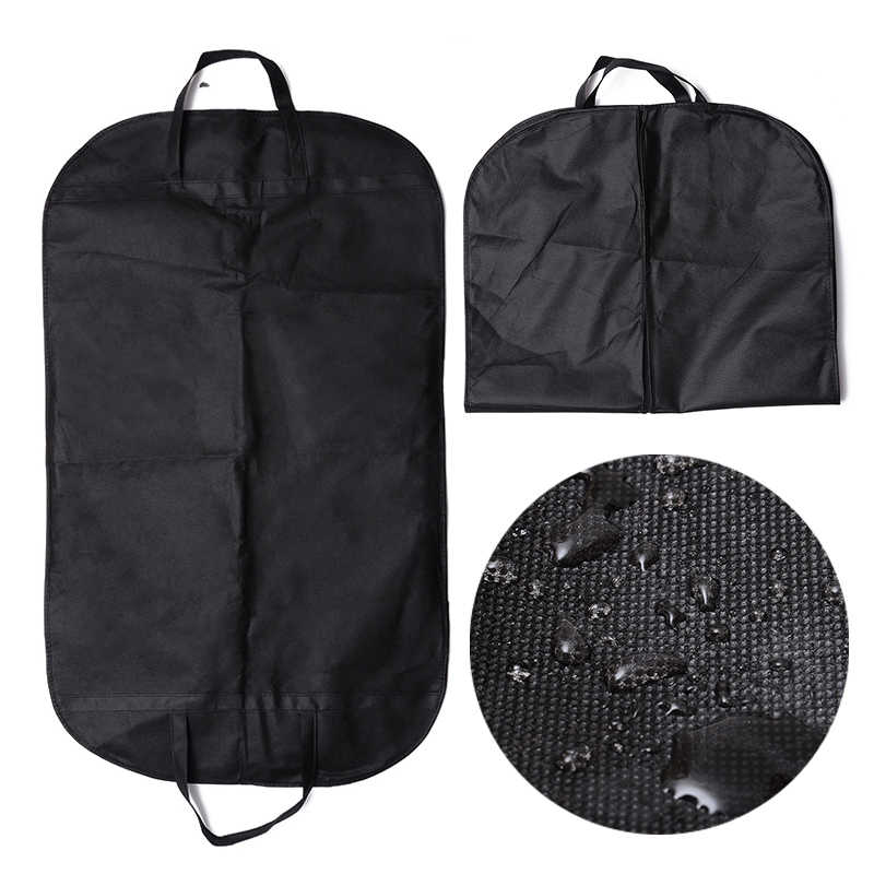 1/2/5pcs Suit Clothes Hanger Garment Bag Cover Non Woven Fabrics Waterproof Garment Bag Home Travel Clothing Storage Dust Covers