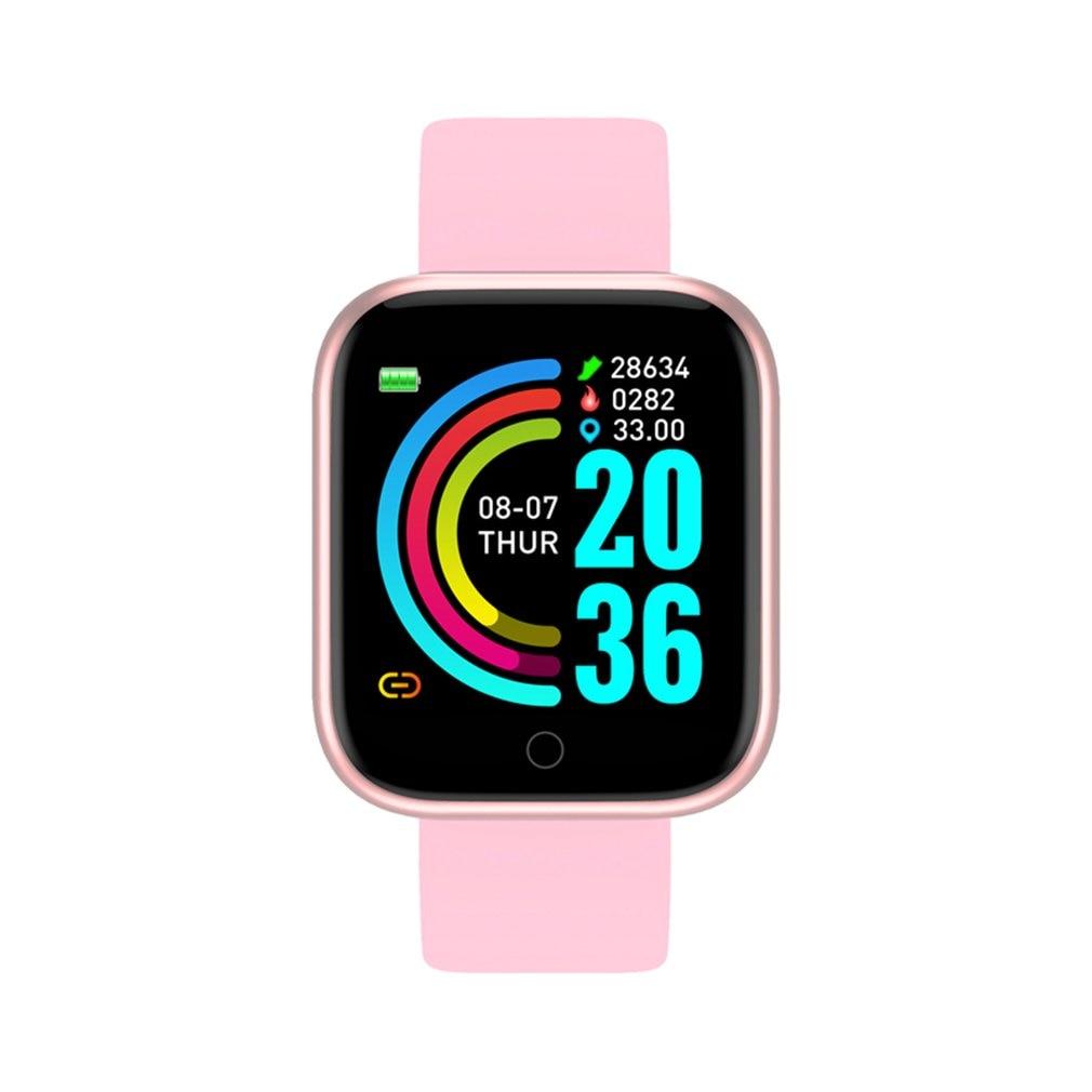 Hot Sale!!! Smart  Watch Y68 Waterproof Bluetooth Sport SmartWatch Men For Phone Fitness Tracker Heart Rate Monitor Women