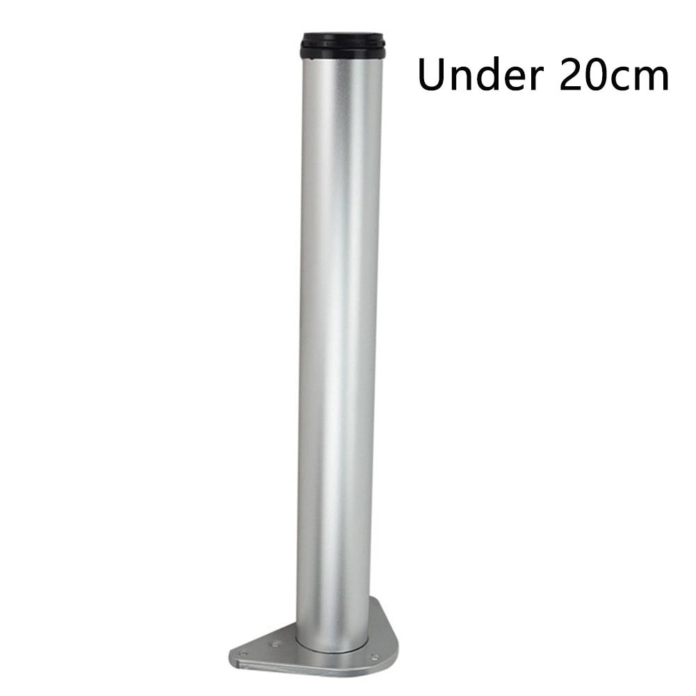 Height Adjustable Straight Breakfast Bar Screw Fixing Furniture Cabinet Anti-slip Table Legs Worktop Support Desk Aluminum Alloy