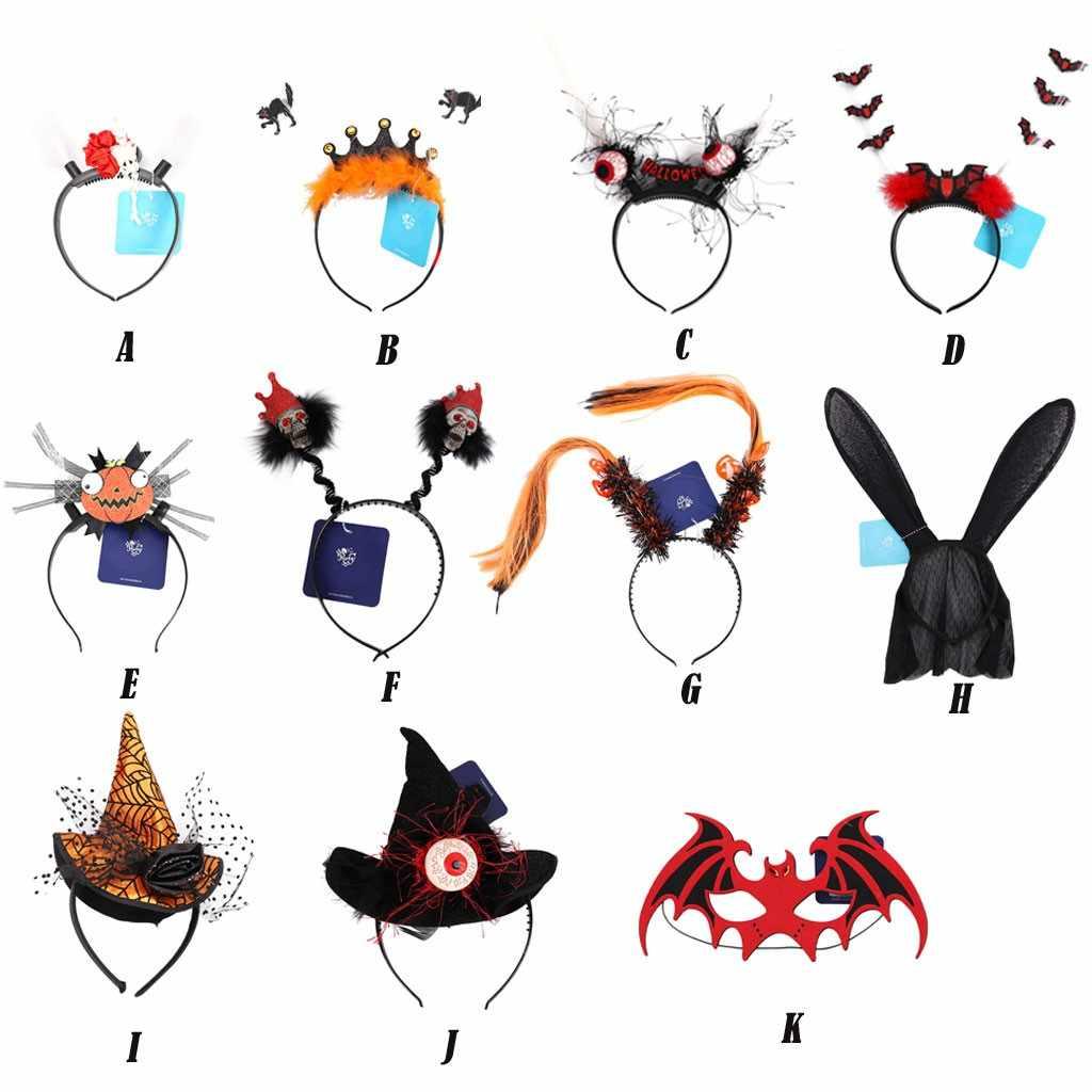 ליל כל הקדושים evil שנטאו אביזרי ליל כל הקדושים שיער חישוק Creative ליל כל הקדושים מפלגה בגימור לילדים ונשים שמלת טורבן # X21