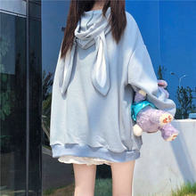 Long Sleeve Hooded Sweatshirts Spring Autumn Loose Fit Kawaii Hoodie Casual Plus Size Fashionable Women's Clothing