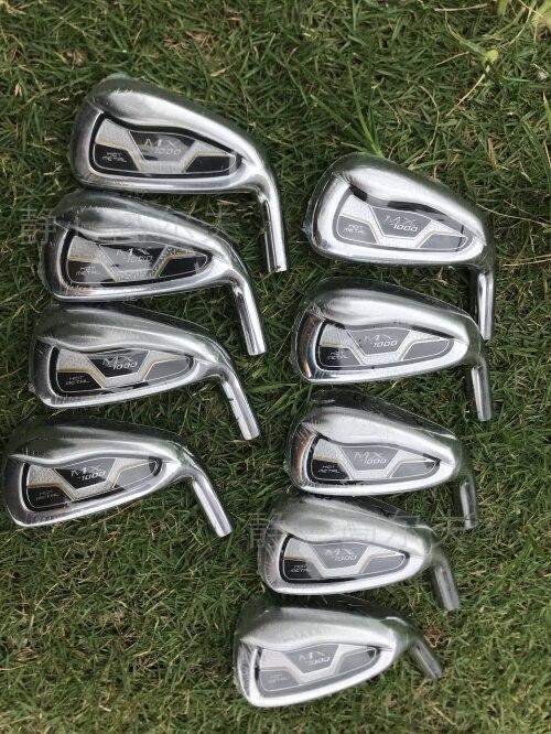 MX1000 Clubs de Golf fer ensemble 4-9PGS acier graphite arbre conducteur coin sauvetage Putter livraison gratuite