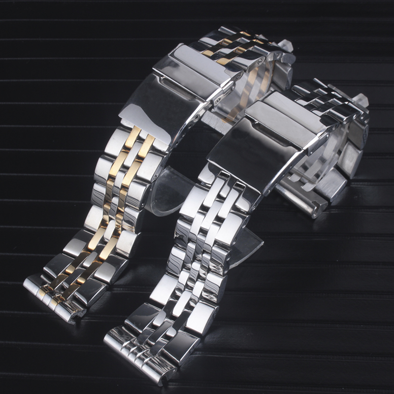 20mm 22mm High Quality Solid Stainless Steel Watch Bracelet For <font><b>Breitling</b></font> Watch <font><b>Strap</b></font> Bands AVENGER NAVITIMER SUPEROCEAN <font><b>Strap</b></font> image