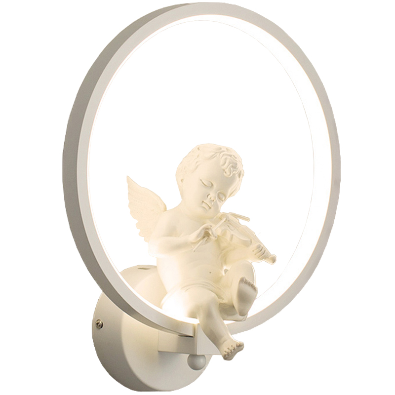 Modern Creative LED Wall Lamps For Bedroom Living Room Corridor Light Birds Angel Lovers Decoration Aluminum Wall Light