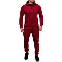 ZOGGA Fashion Jacket Sportswear Men Tracksuit Hoodie Spring Autumn Men Brand Clothes Hoodies+Pants Mens Track Suit Set Hot Sale hot sale 18 pcs set spring autumn 100