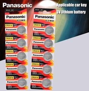 Image 1 - Panasonic Высокое качество литиевая батарея 10 шт./лот 3V li ion cr2016 кнопка батареи часы монета батареи cr 2016 DL2016 ECR2016 GPCR
