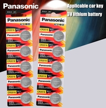 Panasonic di Alta Qualità Batteria Al Litio 10 PZ/LOTTO 3V Li Ion Batteria a Bottone cr2016 Guarda Coin Batterie cr 2016 DL2016 ECR2016 GPCR