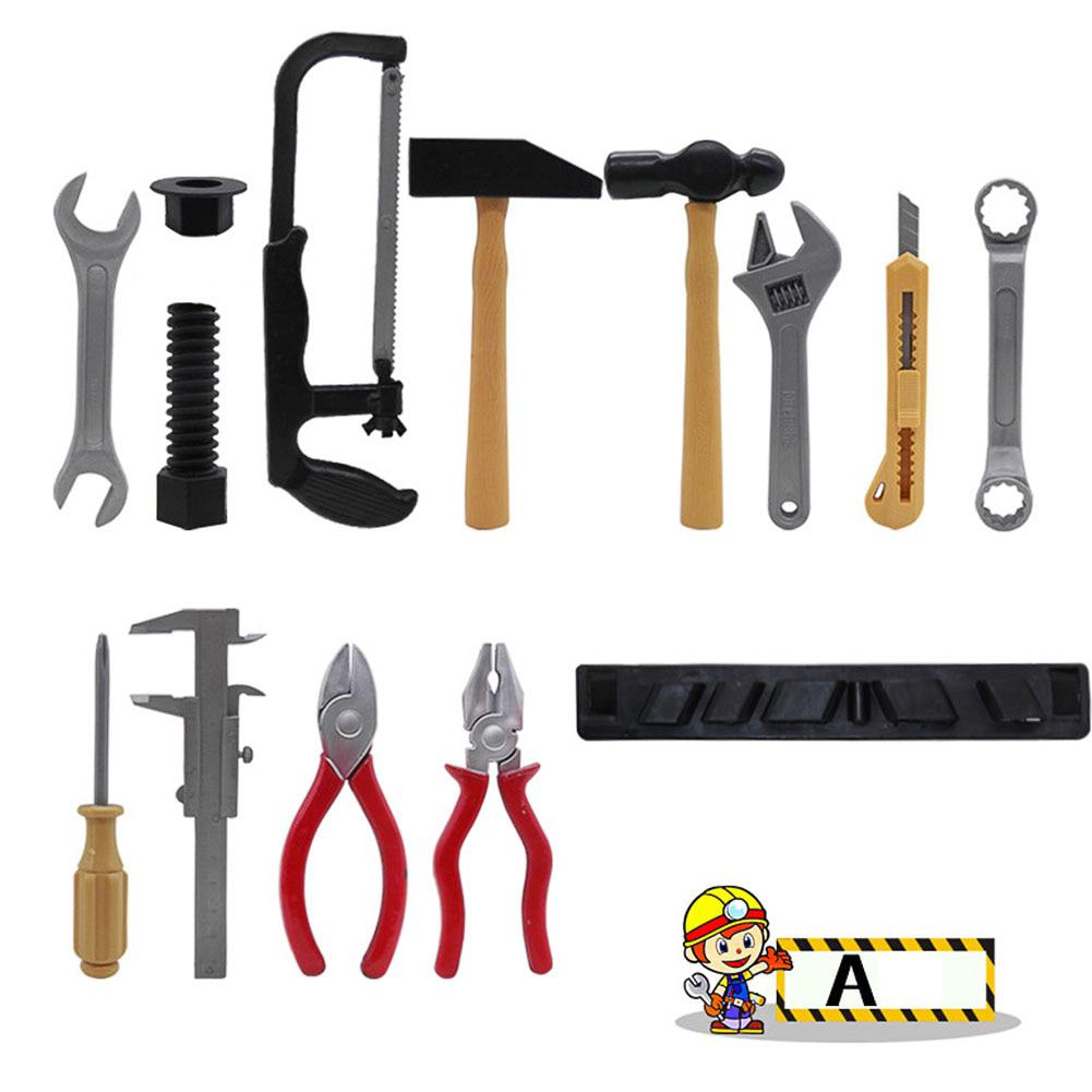 Plastic Building Tools Set Children Role-playing Construction Worker Suit For Boys And Girls Random Delivery