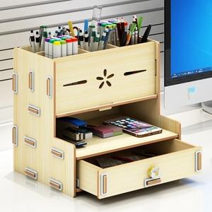 Image 4 - Creative fashion storage box desktop ornaments student office supplies pen barrel stationery storage pen container