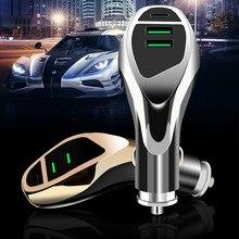 Cargador de coche para teléfono móvil, 3.1a 3.6A usb puerto dual, cargador rápido QC3.0 PD 18 W, carga de flash