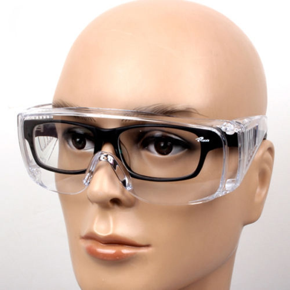 New Clear Vented Safety Goggles Eye Protection Protective Lab Anti Fog Glasses Lab Anti Fog Dust Glasses