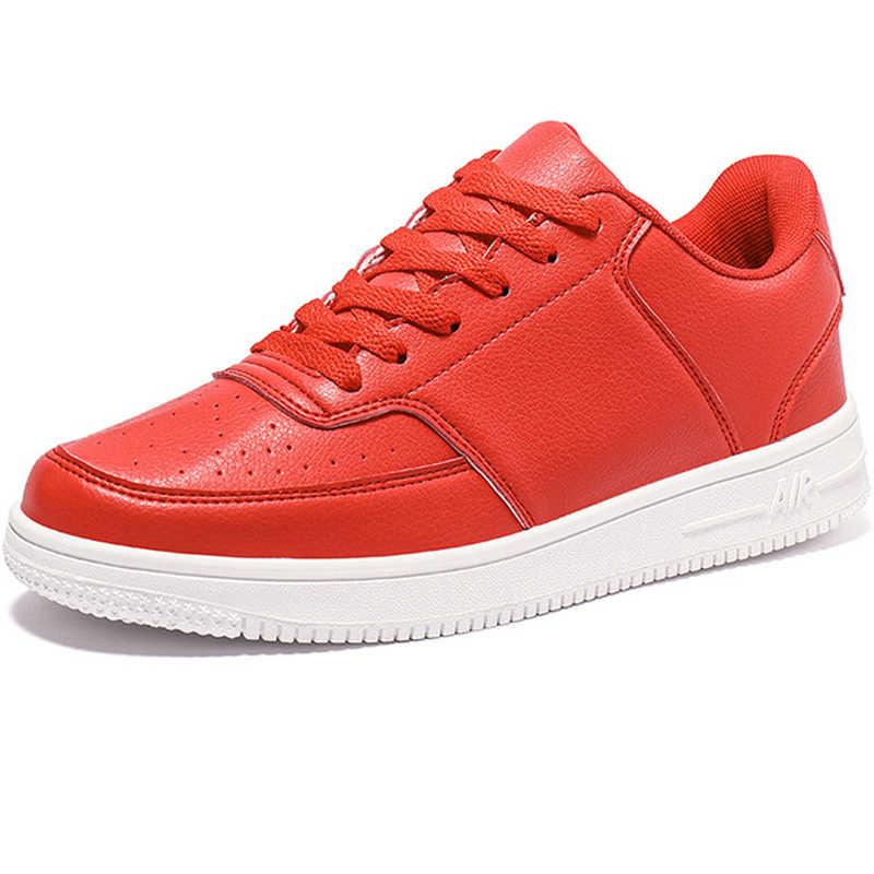 브랜드 가죽 남성 캐주얼 신발 가을 패션 스니커즈 신발 부드러운 고무 남성 플랫 신발 화이트 남성 신발 판매 남자 디자이너