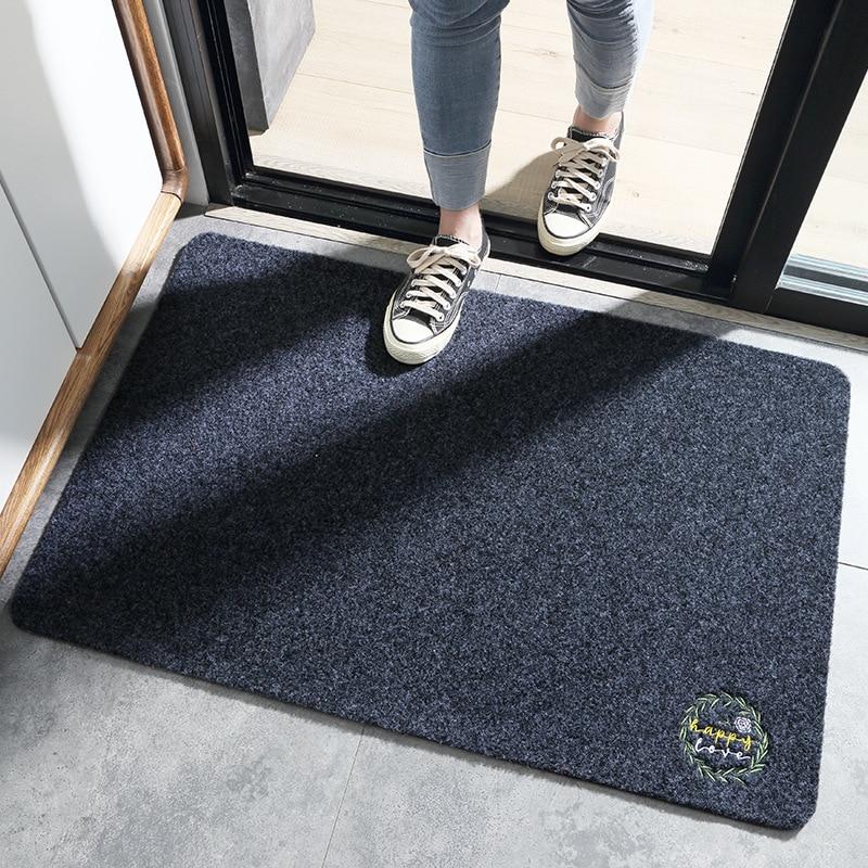 4 Colors Odorless Japanese-style Simple Wear-resistant Door Carpet Mat Household Dust-removing Mats, Household Non-slip Carpet