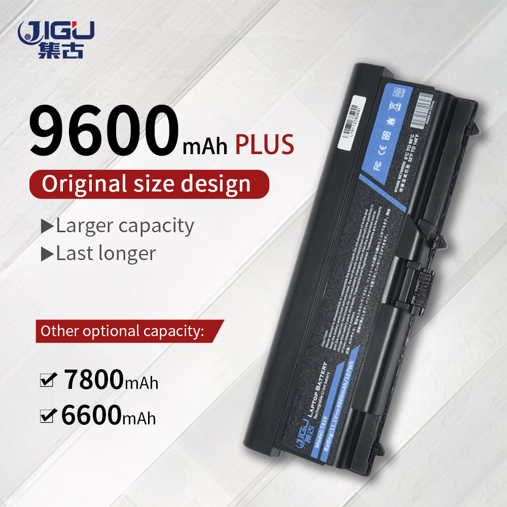 JIGU 9Cells Laptop Battery For Lenovo ThinkPad L421 L510 L512 L520 SL410 SL510 T410 T410i T420 T510 T510i T520 T520i W510 W520