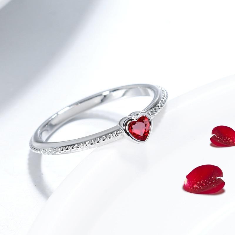 ruby zircon ring 925 silver jewelry for women 4