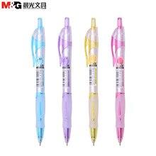 4шт 0.38 мм симпатичные фрукты аромат нажмите ручка синяя шариковая ручка шариковая ручка студент шариковая ручка офис школы письма