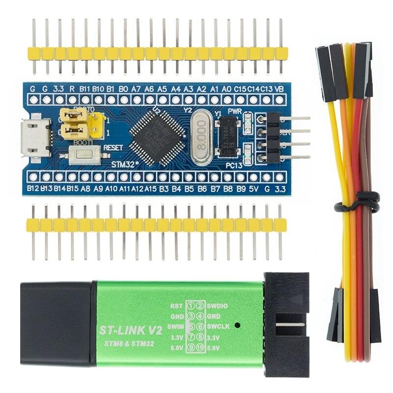 Модуль платы разработчика минимальной конфигурации STM32F103C8T6 ARM STM32 для Arduino ST-Link V2 Mini STM8