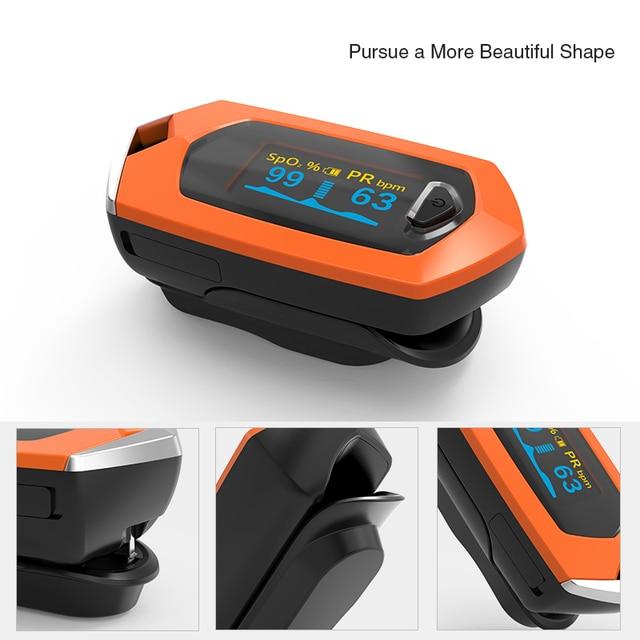BOXYM Finger Pulse Oximeter Pulsioximetro SpO2 PR OLED Rechargeable CE Medical Oximetro De Dedo Heart Rate Monitor 3