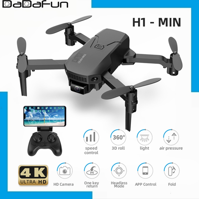 2020 New H1-Min Drone With 4K HD Dual Camera WiFi FPV Fixed Height Anti-interference Smart Follow Foldable Quadcopter Toy Gifts