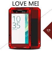 LOVE MEI-funda protectora de Metal para teléfono Sony Xperia XA Ultra XA2, carcasa de armadura de agua a prueba de golpes para Sony Xperial 11