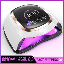 BLUEQUE V3 Large Space Nail Lamp 168W 42 LED UV Lamp Quick Dry LCD Display Nail Gel Dryer Lamp Professional Lamp For Manicure