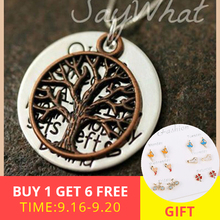 XiaoJing 925 sterling sliver tree of life necklace personalized custom letter pendant for lover&family Best gift 2019