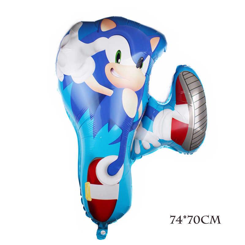 Drie Soorten Sonic The Hedgehog Ballonnen Super Hero Folie Ballon Jongen Meisje Gelukkig Brithday Party Ballonnen Decor Supplies