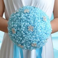 Blue Pearls Wedding bouquet Bridal bouquet Bride flowers Bridesmaid Bouquet Wedding accessories