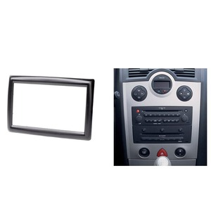 Image 2 - Double 2 Din Radio Fascia for Renault Megane II 2003 2009 Stereo Panel Dash Kit Refitting Installation Trim Face Frame CD Bezel