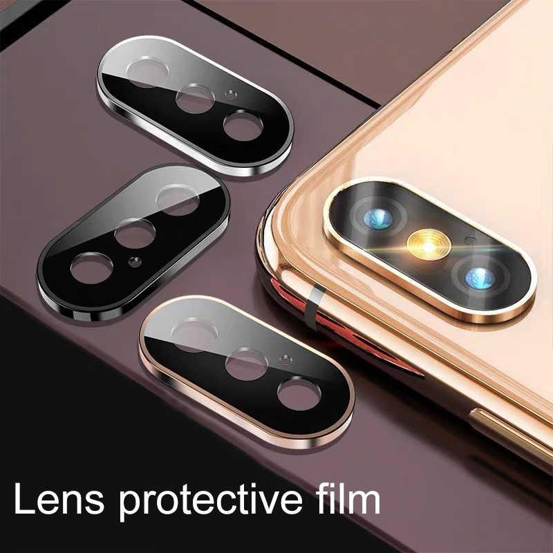 バックカメラレンズプロテクター保護のための iphone x xs xr xs 最大強化ガラス flim 保護ガラス iphone x xs 最大