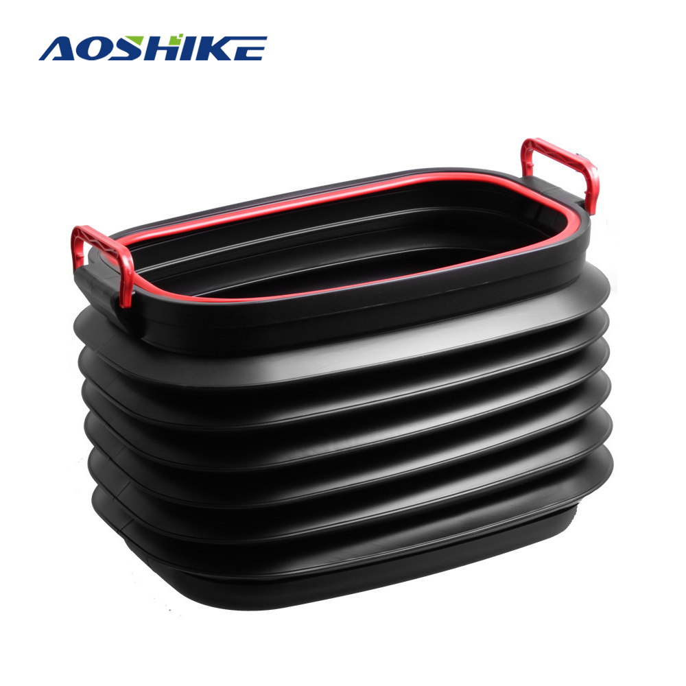 Storage-Box Bucket Tidying Auto-Trunk-Organizer Folding New 37L Car Rear AOSHIKE Collapsible