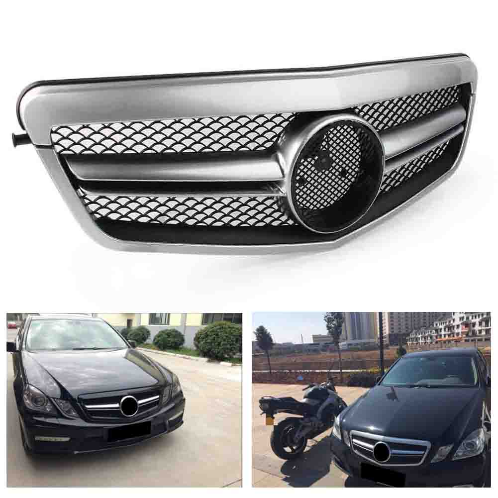 Front Grille Bumper Mesh <font><b>Grill</b></font> For <font><b>Mercedes</b></font> Benz E Class <font><b>W212</b></font> S212 2010 2011 2012 2013 ABS Plastic with emblem Auto Car Parts image