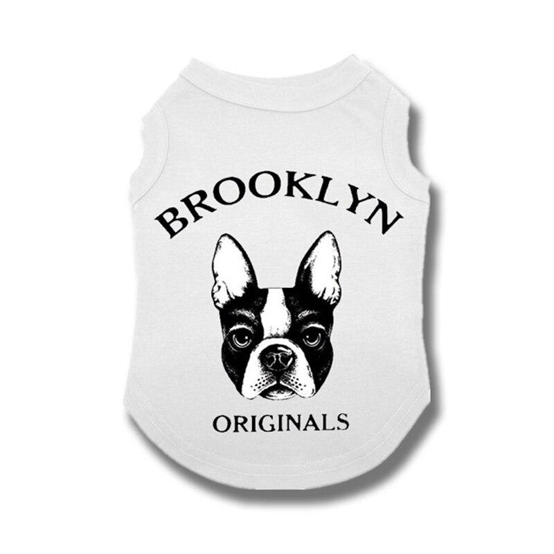 Летняя одежда для собак, Весенняя Милая Одежда для собак, хлопковый жилет для собак, кошек, рубашка для маленьких, средних, французских бульд...