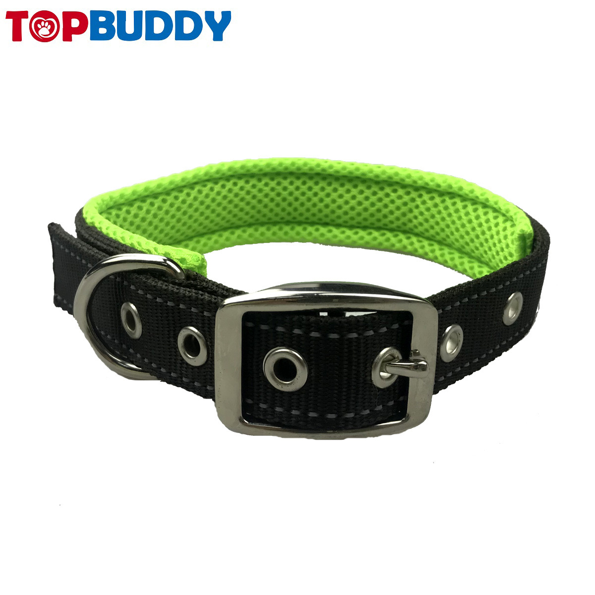 Pet Supplies Outdoor Reflective Thick Pet Collar Nylon Adjustable Dog Collar Belt Buckle Pet Collar