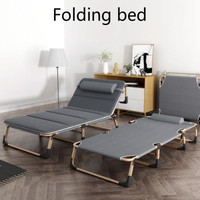 bed, single bed, nap, simple family nap bed, escort portable multi functional military bed office reclining chair