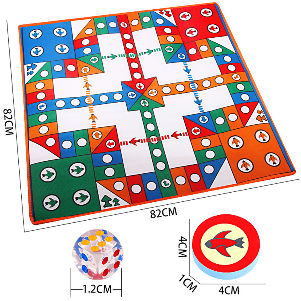 Children's Carpet Crawling Mat EVA Game Flying Chess Mat Double-sided Single-sided Big Rich Strong Hand Million Taxi Aircraft