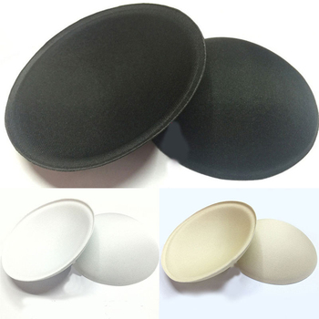 1 Pair Sponge Bra Pads Breast Pads Intimates Accessories Soft Round Bikini Bra Insert Sponge Swimsuit Padding Inserts Chest Cup image