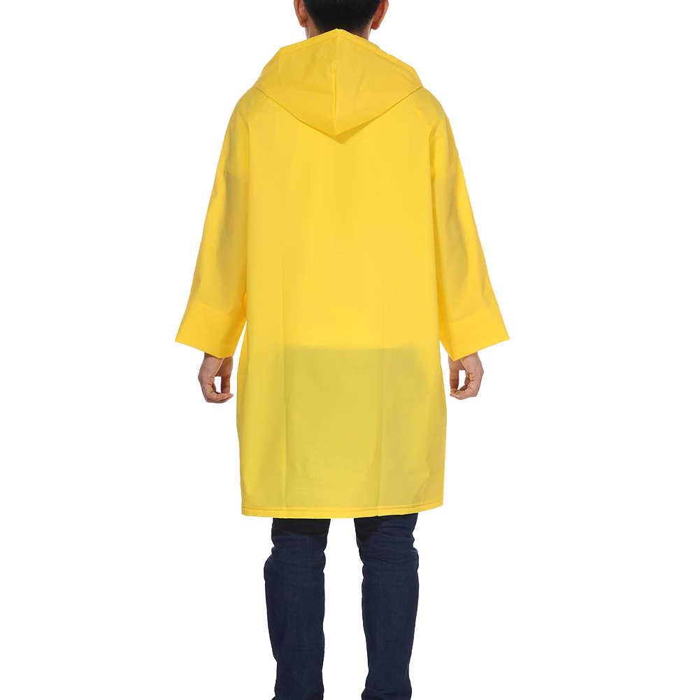 Neue Mode Frauen Sehen-durch Feste Farbe Durchscheinend Lange stil Mit Kapuze Regenmantel Unisex Regen Poncho Regenbekleidung Windjacke
