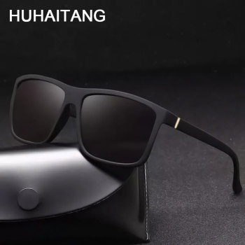 HUHAITANG Fashion Men Square Sunglasses Mens Outdoor Driving Sunglases 2019 Luxury Brand Designer Oversized Sun Glasses For Man
